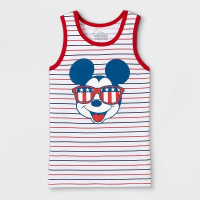 Boys' Disney Mickey Mouse American Shades Tank Top - White