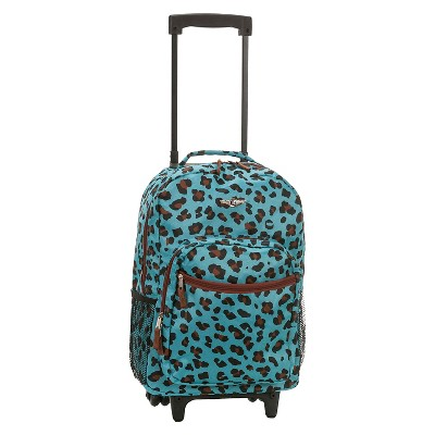 "Rockland 17"" Roadster Rolling Backpack - Animal Prints"