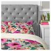Pink Marta Barragan Camarasa Abstract Geometrical Flowers Duvet Cover Set (King) - Deny Designs - image 2 of 4