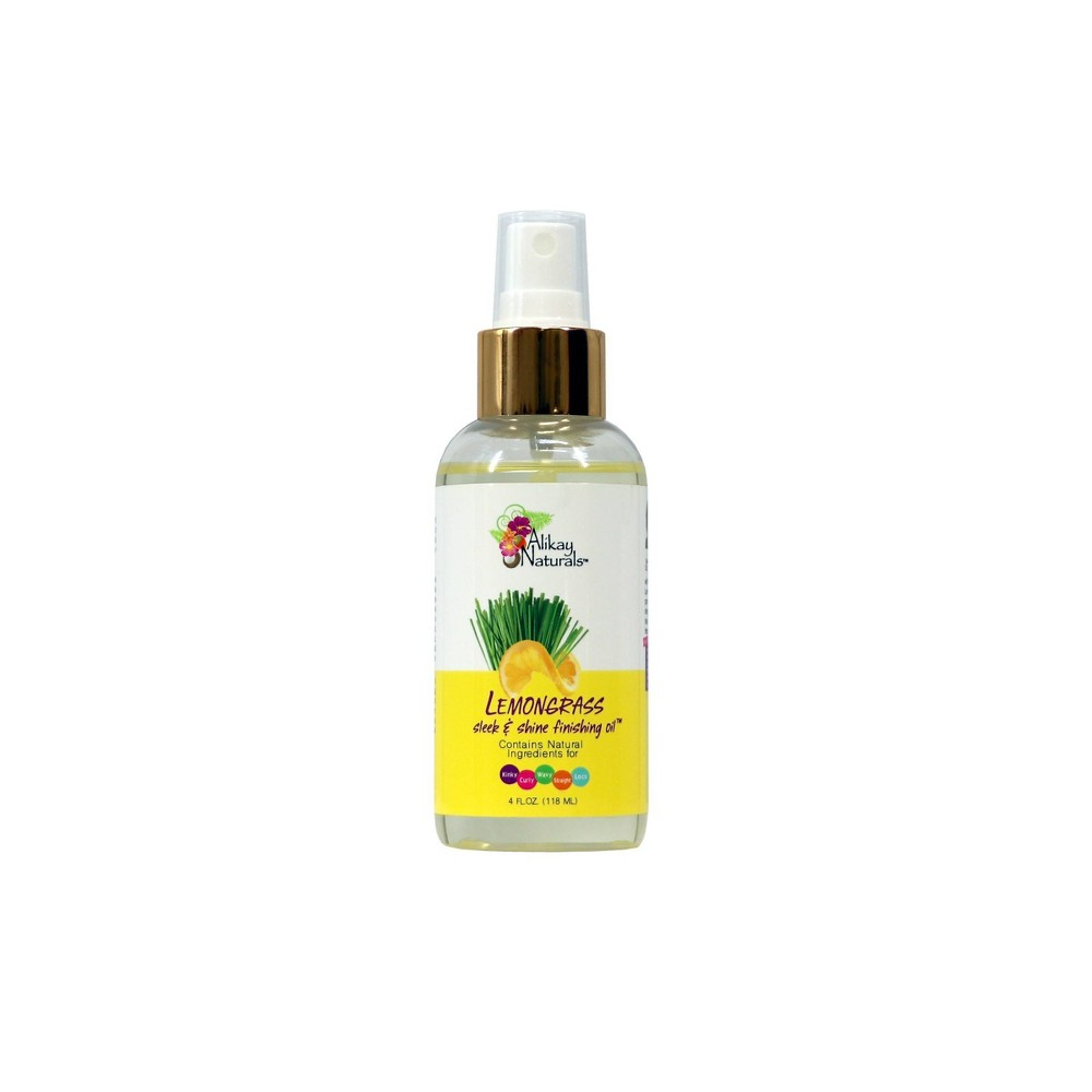 Image of Alikay Naturals Lemongrass Sleek And Shine Finishing Oil - 4 fl oz