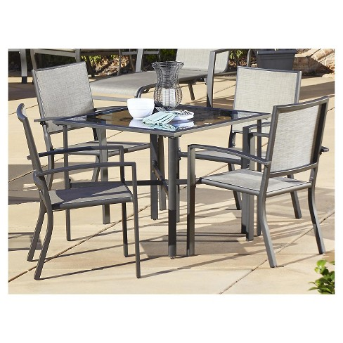 Serene Ridge 5 Piece Aluminum Outdoor Patio Dining Set - Brown - Cosco - image 1 of 6