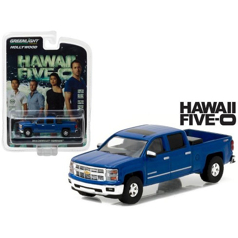 """2014 Chevrolet Silverado Pickup Truck Blue """"Hawaii Five-0"""" TV Series (2010-Current) 1/64 Diecast Model Car by Greenlight - image 1 of 1"""