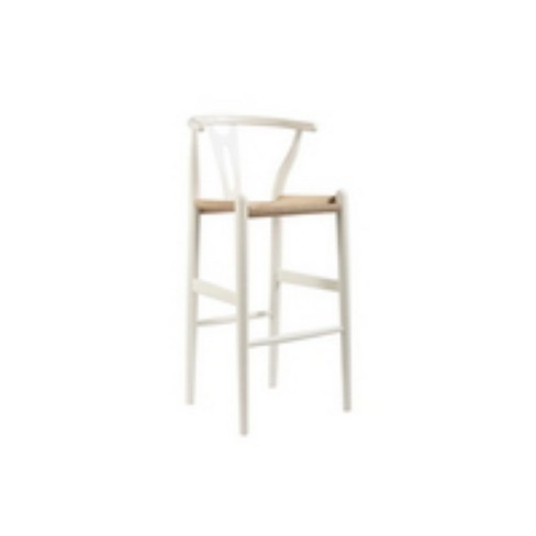Awe Inspiring Mid Century Modern Wishbone Stool Wood Y Stool White Baxton Studio Cjindustries Chair Design For Home Cjindustriesco