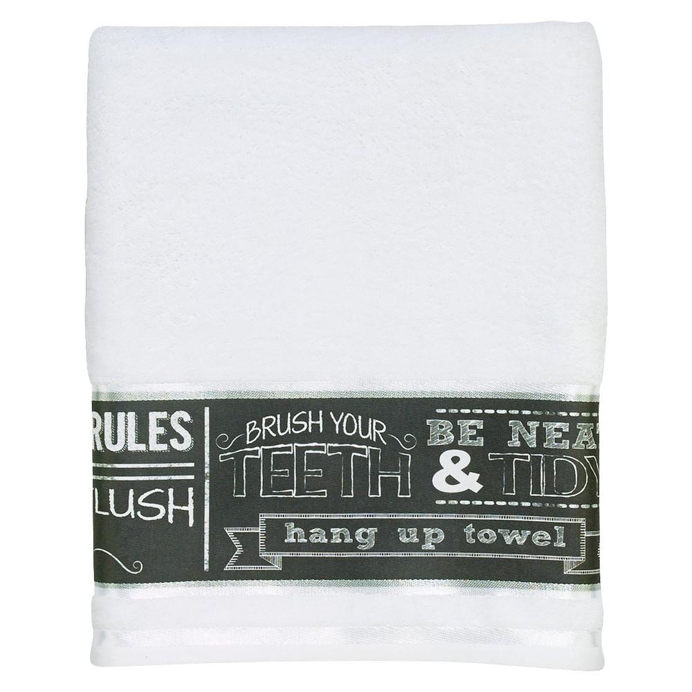Image of Avanti Chalk It Up Bath Towel, Multicolored