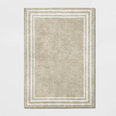 5'X7' Tetra Border Rug Tan/Ivory - Threshold™