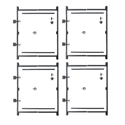 "Adjust-A-Gate Steel Frame Gate Kit, 36""-60"" Wide Opening Up To 7' High (4 Pack)"