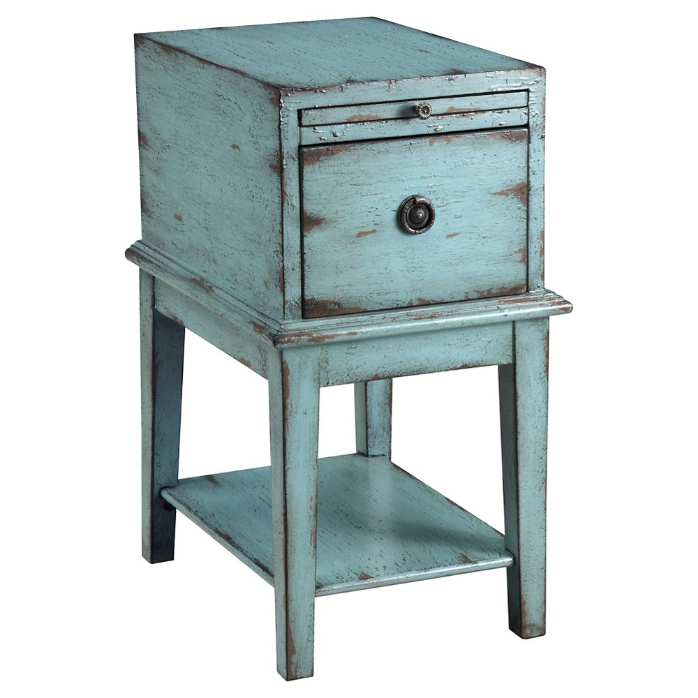 Top Esnon One Drawer Chest Bayberry Blue - Treasure Trove