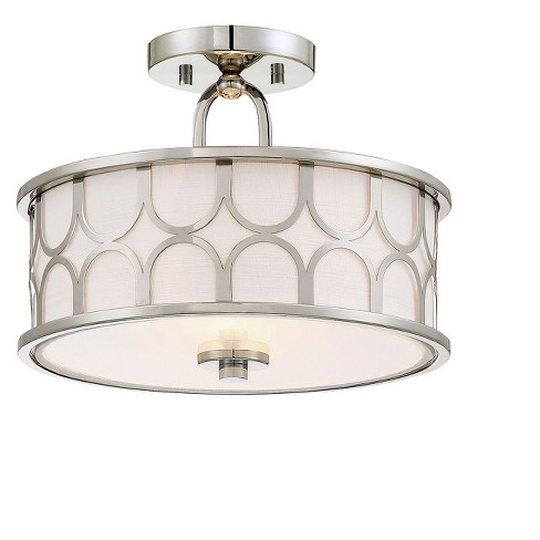 Ceiling Lights Semi Flush Mount Polished Nickel Aurora Lighting