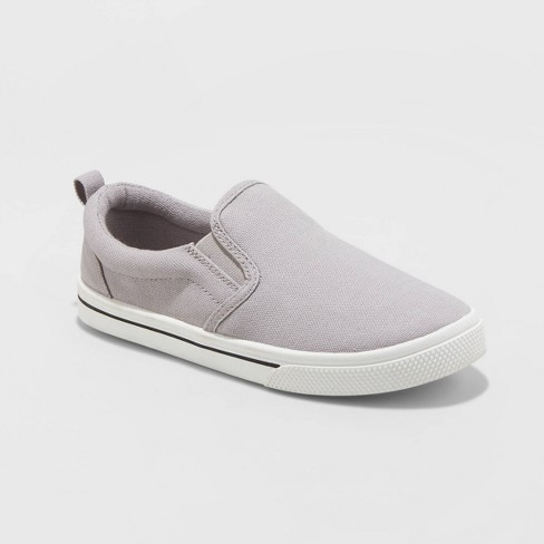 Boys' Jaime Wide Width Slip-On Sneakers - Cat & Jack™ Gray - image 1 of 3