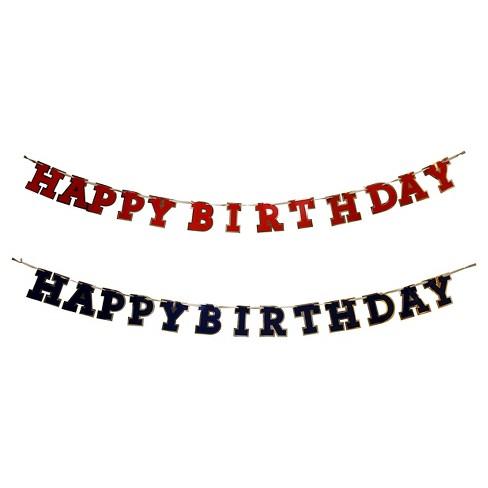 "Assorted ""Happy Birthday"" Banner - Spritz™ - image 1 of 1"