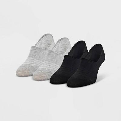 Peds Women's Sport 4pk Liner Socks - Assorted Black 5-10