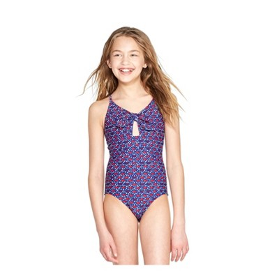 Girls' America Whales One Piece Swimsuit   Red/Blue   Vineyard Vines® For Target by Red/Blue