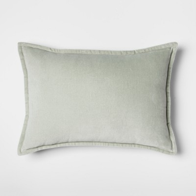 Green Sage Velvet Lumbar Throw Pillow - Threshold™
