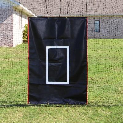 Cimarron 4 x 6 Foot Baseball Softball Pitcher Training Aid Practice Batting Cage Net Saver Strike Zone Target Vinyl Backstop, Backstop Only