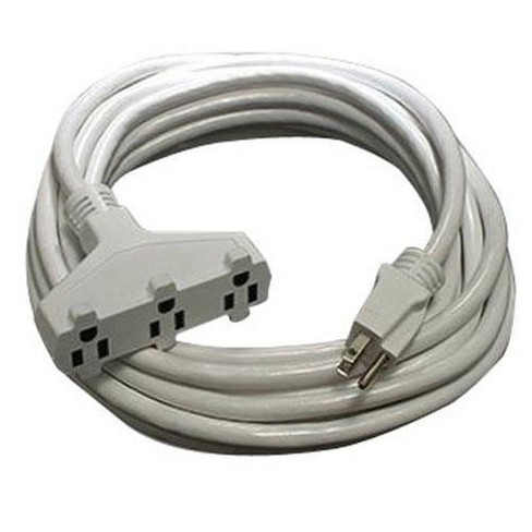 Milspec 10' Pro Power SJTW 12/3 AWG Triple Tap Extension Cord, White - image 1 of 1
