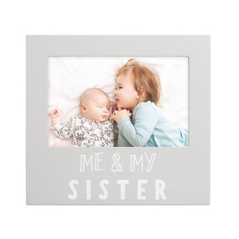 """Pearhead Sentiment Me And My Sister Frame 4"""" x 6"""" Gray - image 1 of 3"""