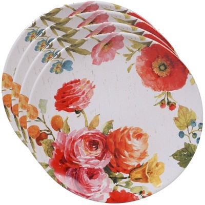 10.8  4pk Earthenware Country Fresh Dinner Plates - Certified International