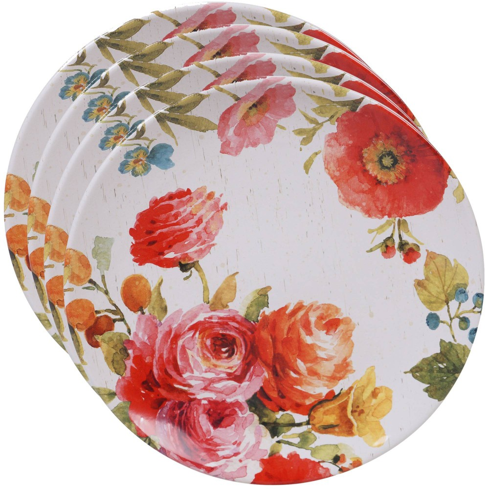 "Image of ""10.8"""" 4pk Earthenware Country Fresh Dinner Plates - Certified International"""