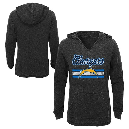 caa1da966 NFL Los Angeles Chargers Girls' Game Time Gray Burnout Hoodie : Target