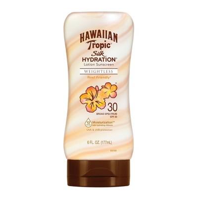 Hawaiian Tropic Silk Hydration Weightless Sunscreen Lotion - SPF 30 - 6oz
