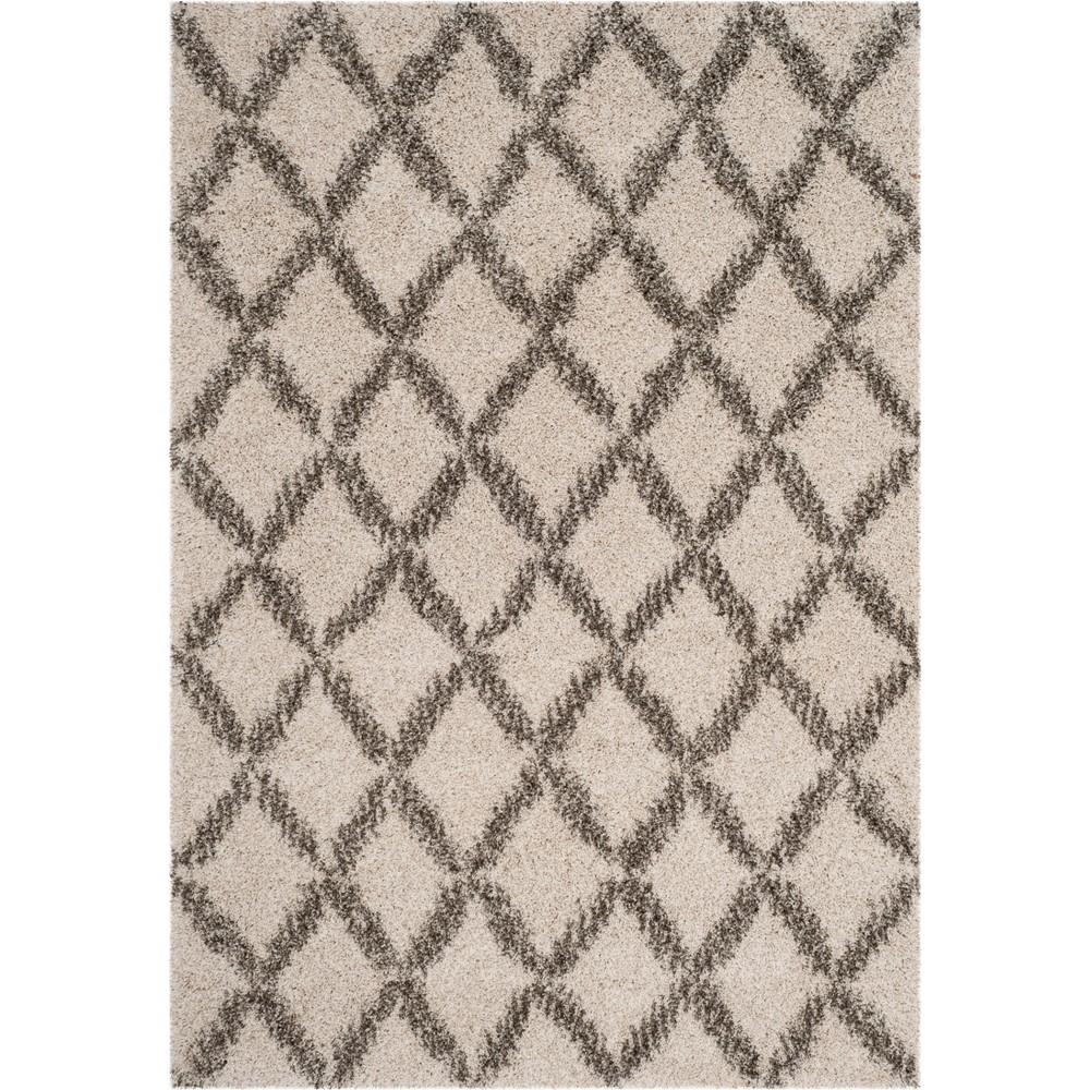 5'1X7'6 Geometric Loomed Area Rug Ivory/Gray - Safavieh