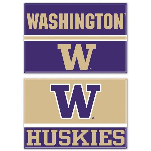 NCAA Washington Huskies 2pk Fridge Magnet - image 1 of 1