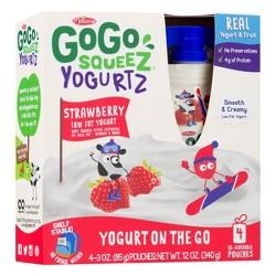 Gogo Squeez Kids' Yogurt On The Go Strawberry 4ct - 3oz