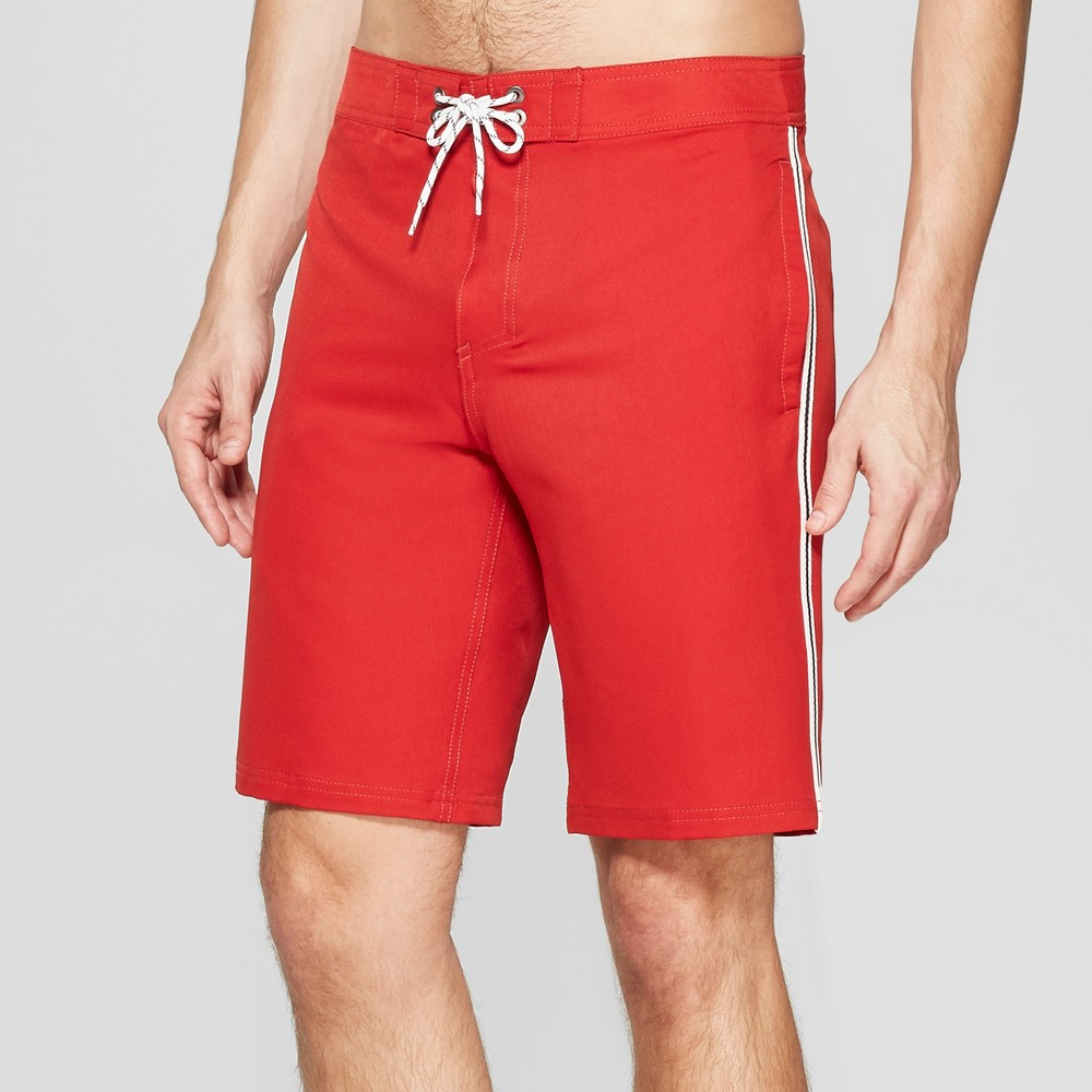 Men's 10 Taped Board Shorts - Goodfellow & Co Red 42
