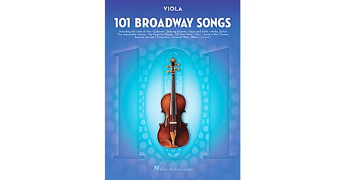 101 Broadway Songs for Viola (Paperback) - image 1 of 1