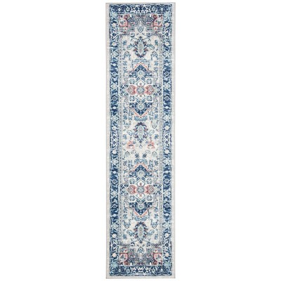 2'x8' Runner Kristal Rug Light Gray/Blue - Safavieh