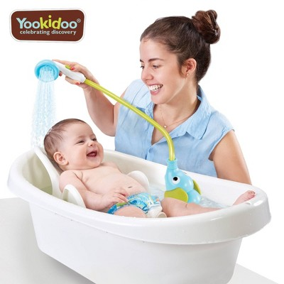 Yookidoo Elephant Baby Shower Bath Toy - Blue