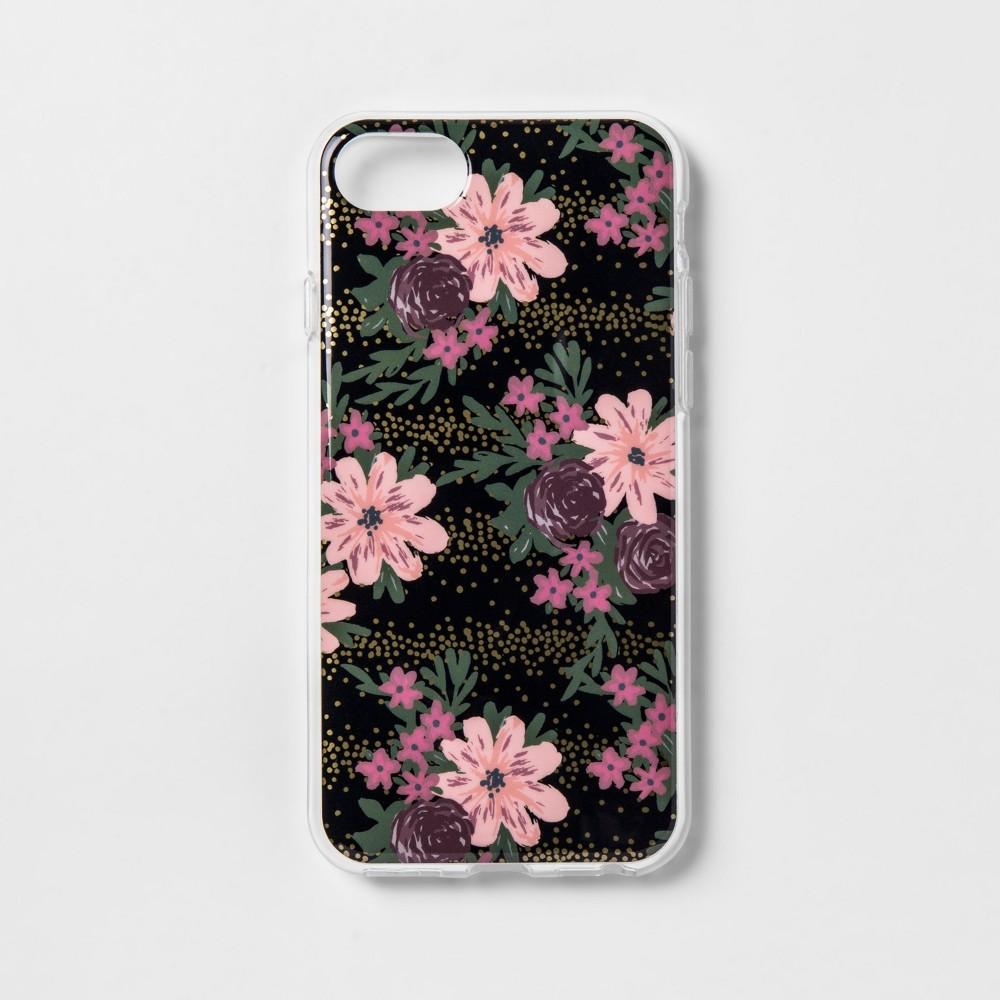 heyday Apple iPhone 8/7/6s/6 Case - Dark Pink Floral