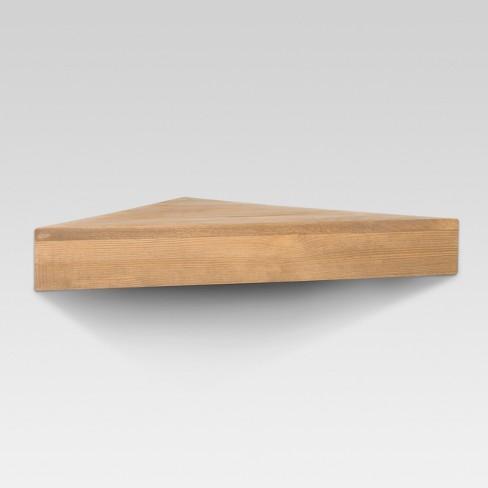 natural wood corner shelf threshold target