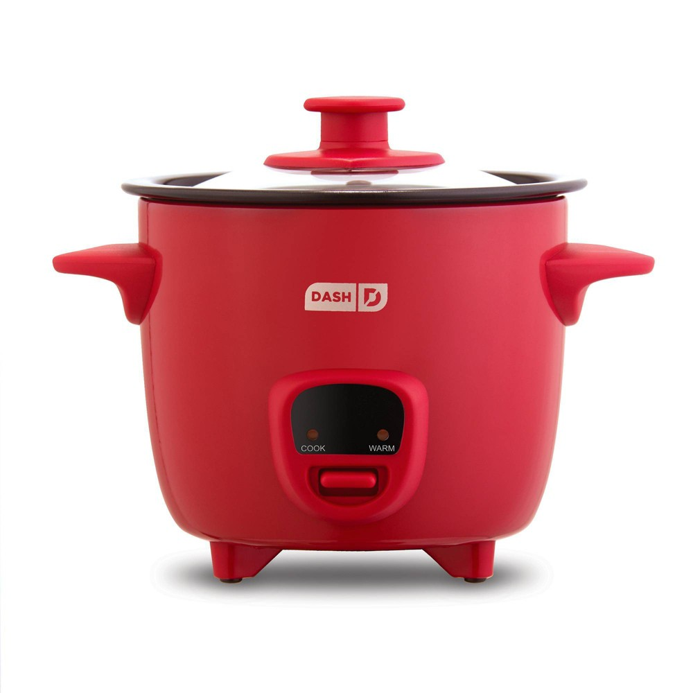 Image of Dash 2-Cup Electric Mini Rice Cooker - Red