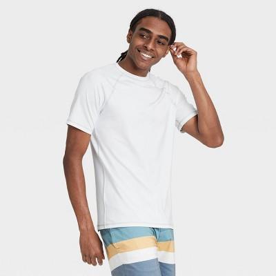 Men's Regular Fit Short Sleeve Rash Guard Swim Shirt - Goodfellow & Co™