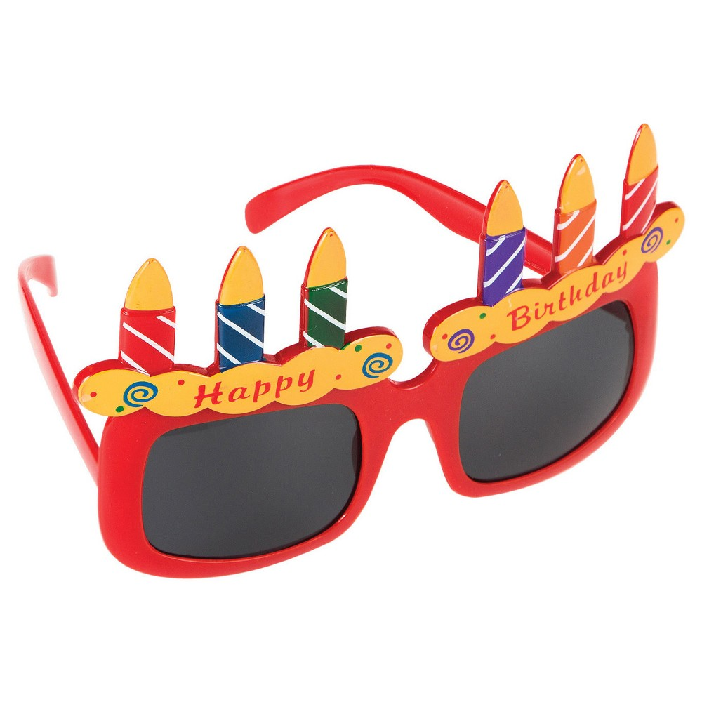 Birthday Cake Glasses, Multi-Colored