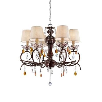 "OK Lighting 67.25""H Magnolia Lamp"