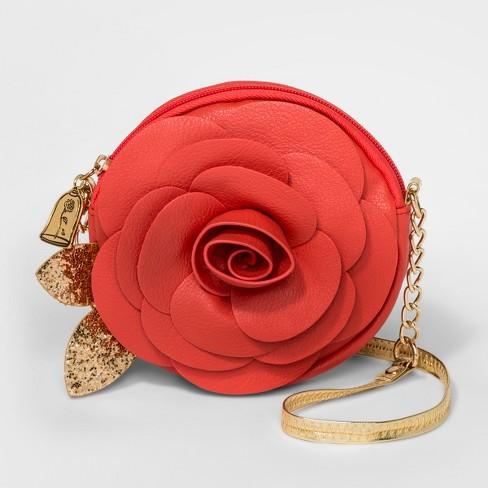 Girls' Disney Princess Belle Crossbody Bag - Red - image 1 of 1