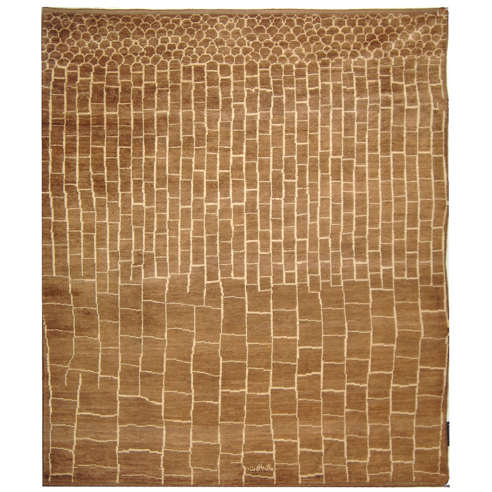 8'X10' Pebble Knotted Area Rug Walnut/Ivory - Safavieh, White Brown