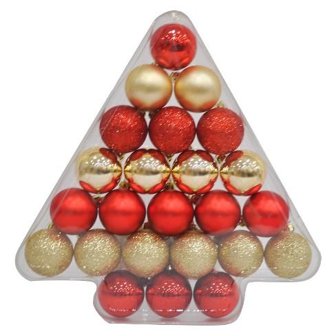 24ct 40mm Ornament Set Redgold Wondershop Target