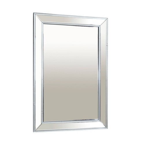 Saray Rectangle Wall Mirror Silver - Abbyson Living - image 1 of 4