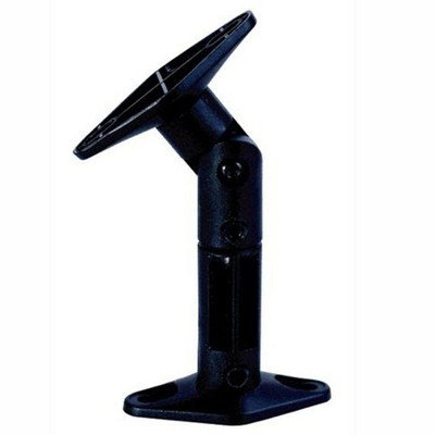 Monoprice Adjustable 10 lb. Capacity Speaker Wall Mount Brackets (Pair), Black