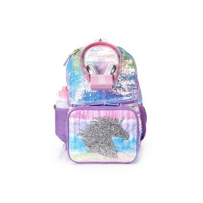 L2D 16'' Kids' Backpack 5pc Value Set - Unicorn Tie-Dye