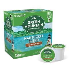 Green Mountain Coffee Nantucket Blend Medium Roast Coffee - Keurig K-Cup Pods - 18ct