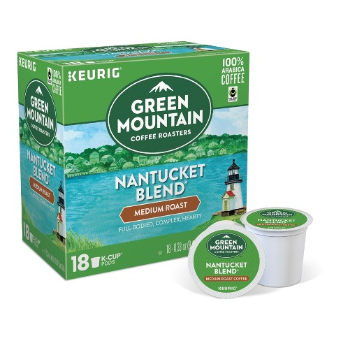 Green Mountain Coffee Nantucket Blend Medium Roast Coffee - Keurig K-Cup Pods - 18ct - image 1 of 4