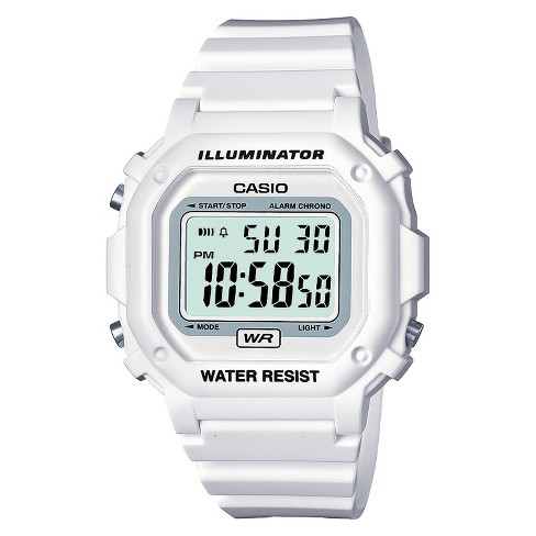 354680265 Casio Women's Digital Watch - White (F108WHC-7BCF) : Target