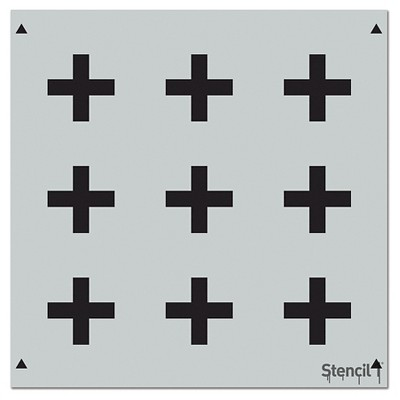 "Stencil1 Plus Sign Repeating - Wall Stencil 11"" x 11"""