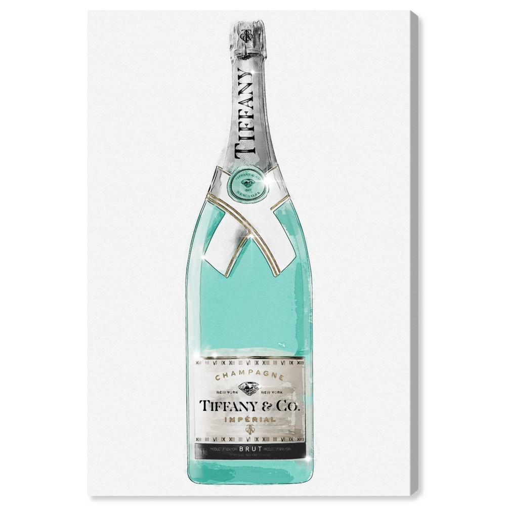 Image of 10'' x 15'' Priceless Champagne Unframed Wall Canvas White/Teal - Oliver Gal