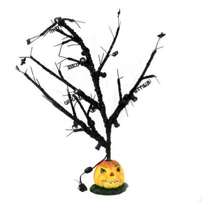 "Halloween 35.0"" Pumpkin Tree Bulbs Not Included Lighted Electric Bats  -  Decorative Figurines"
