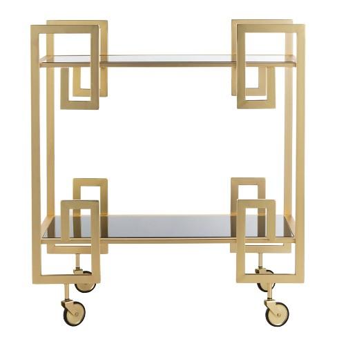 Eliza 2 Tier Bar Cart Brass - Safavieh - image 1 of 4